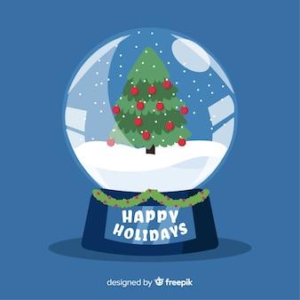 Kerstmis sneeuwbal globe concept
