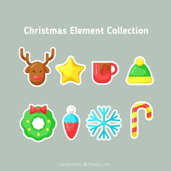 Kerstmis sticker collectie