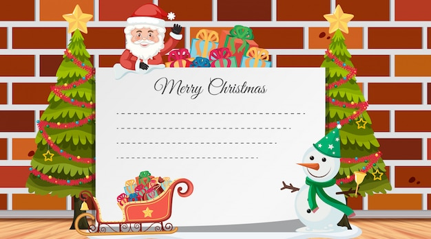 Kerstmis tekstvakje met decoraties