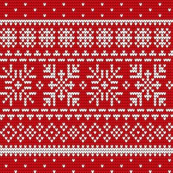 Kerstmis traditioneel naadloos patroon van borduurwerkvector