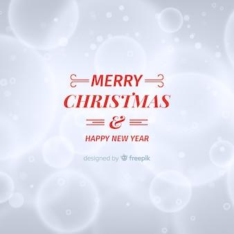 Kerstmis vage cirkels achtergrond