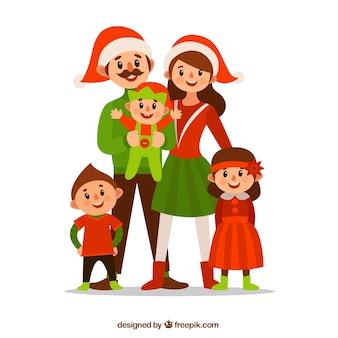 Kerstmis van de familie karakters
