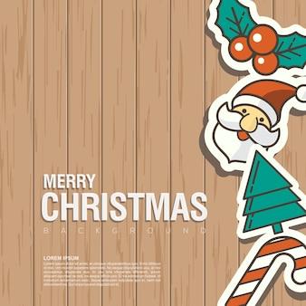 Kerstmis van het achtergrondontwerpelement