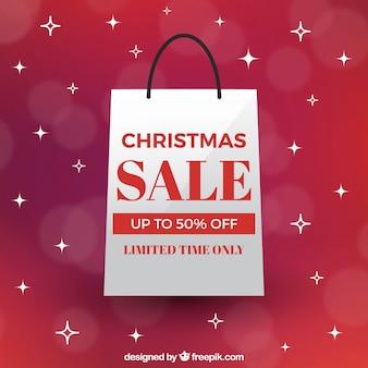 Kerstmis verkoop achtergrond in retro stijl