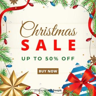 Kerstmis verkoop elementen frame achtergrond