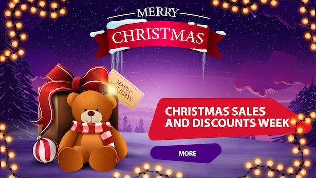 Kerstmis verkoop en korting week banner