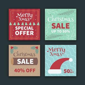 Kerstmis verkoop instagram post collectie