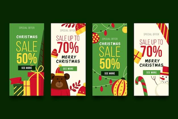 Kerstmis verkoop instagram verhaalcollectie