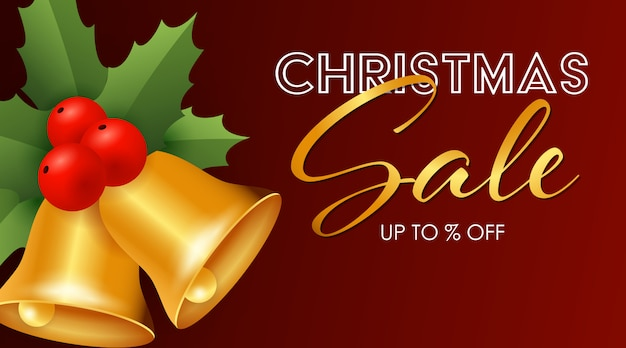 Kerstmis verkoop ontwerp met jingle bells