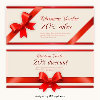 Kerstmis voucher discount template pack
