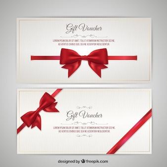 Kerstmis voucher met bow pack
