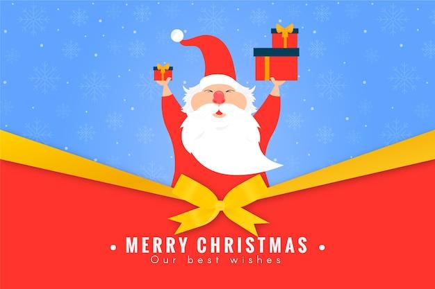 Kerstmisachtergrond met de kerstman