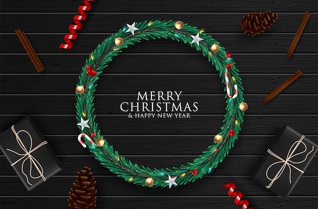 Kerstmisachtergrond met kleurrijke elementen