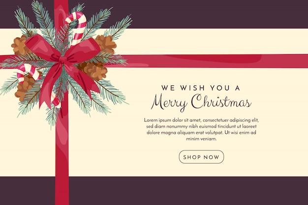 Kerstmisachtergrond met lint