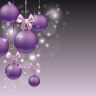 Kerstmisachtergrond met ornamenten