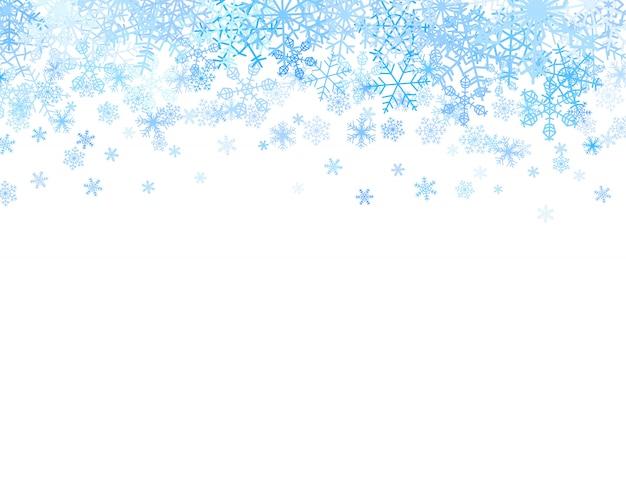 Kerstmisachtergrond met sneeuwvlokken