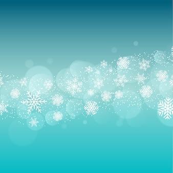Kerstmisachtergrond met sneeuwvlokkenontwerp