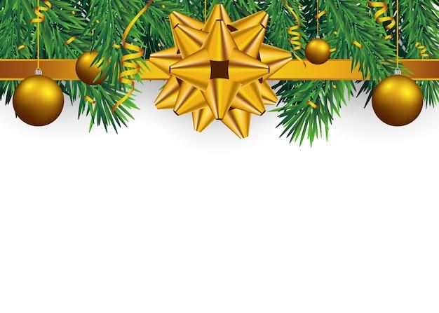 Kerstmisachtergrond met spartakken en gouden ballen