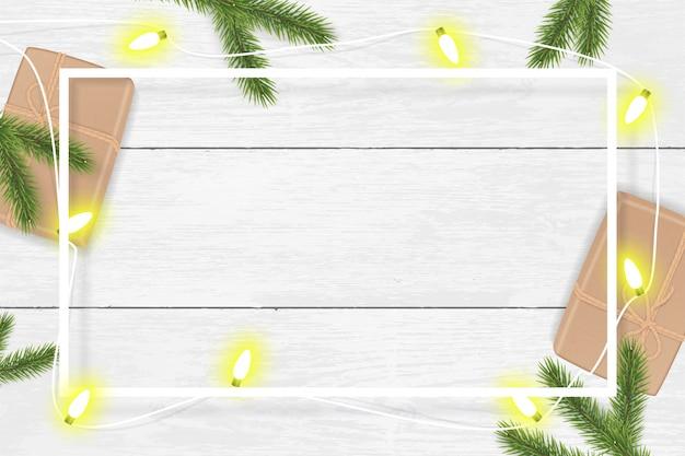 Kerstmisachtergrond met spartakken