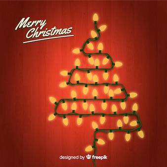 Kerstmisboomachtergrond van de gloeilamp