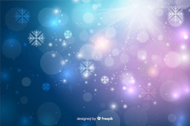 Kerstmisconcept met fonkelende achtergrond