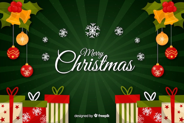 Kerstmisconcept met hand getrokken achtergrond