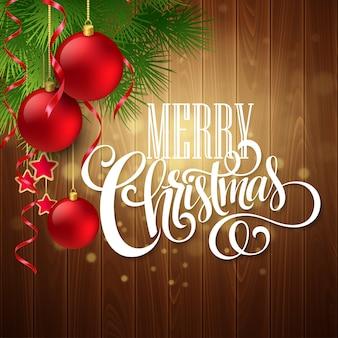Kerstmisdecoratie op houten achtergrond