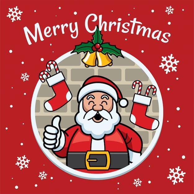 Kerstmisillustratie met de gelukkige kerstman