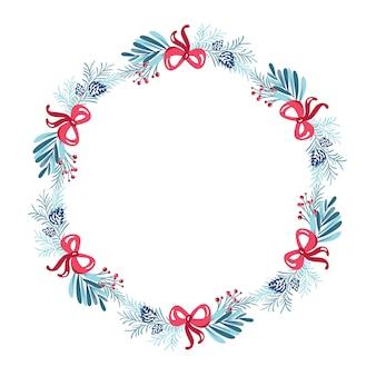 Kerstmiskroon met het frame van de boeketbloem