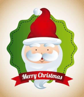 Kerstmisontwerp over beige vectorillustratie als achtergrond