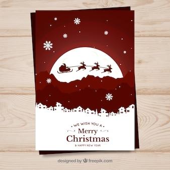 Kerstmisprentbriefkaar ornament decoratie
