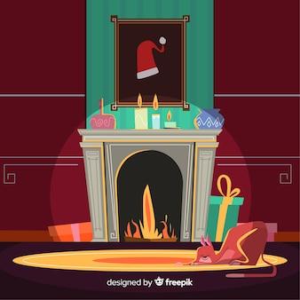 Kerstmissamenstelling met mooie stijl