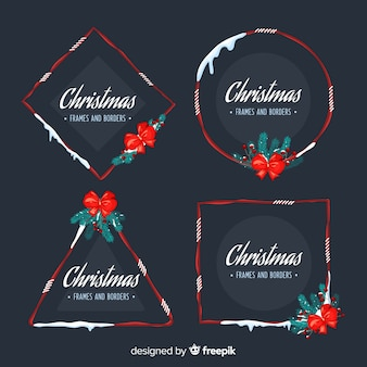Kerstmissneeuwkaders en bordesverzameling