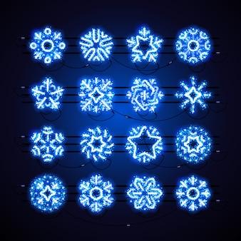 Kerstmissneeuwvlokken blauwe magie
