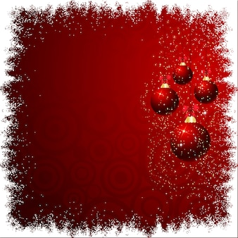 Kerstmissnuisterijen op besneeuwde achtergrond