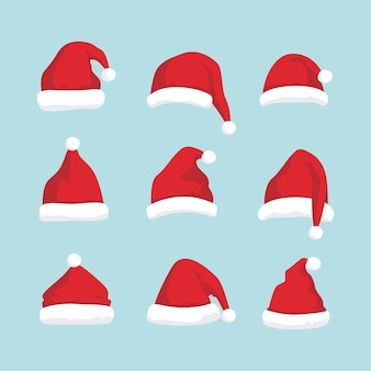Kerstmuts instellen illustratie