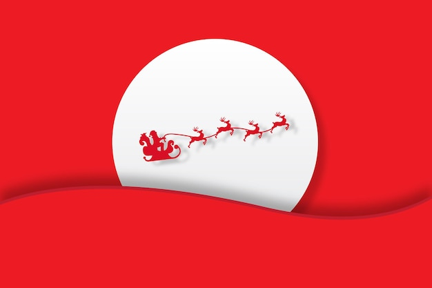 Kerstontwerp op rode achtergrond vectorillustratiesjabloon