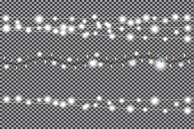 Kerstslingers ingesteld op transparante achtergrond