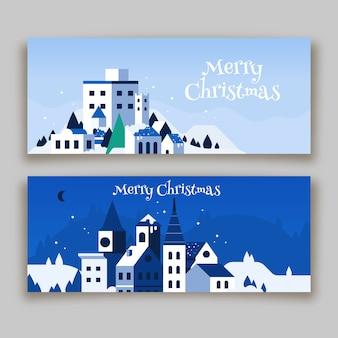 Kerststad banner collectie