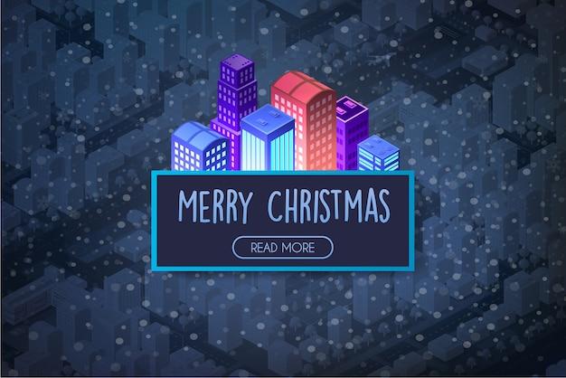 Kerststad isometrisch