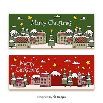 Kerststadsbanner