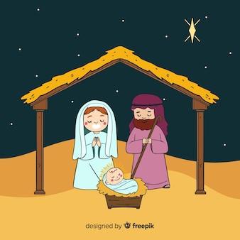 Kerststal achtergrond