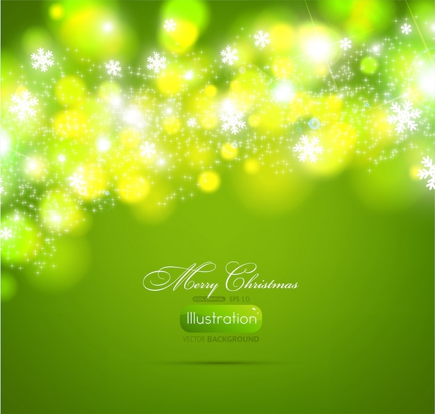 Kerstster sparkle card koud
