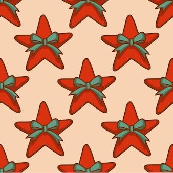 Kerststerpatroon achtergrond sociale media post kerstdecoratie vectorillustratie