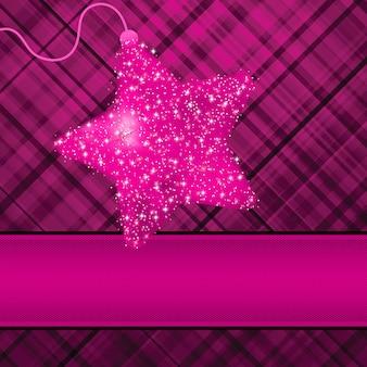 Kerststerren op paarse achtergrond.