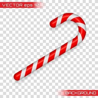 Kerststok, kerstsnoep, kerststok, rood snoep. candy cane geïsoleerd op wit. Premium Vector