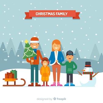 Kersttafereel van de familie