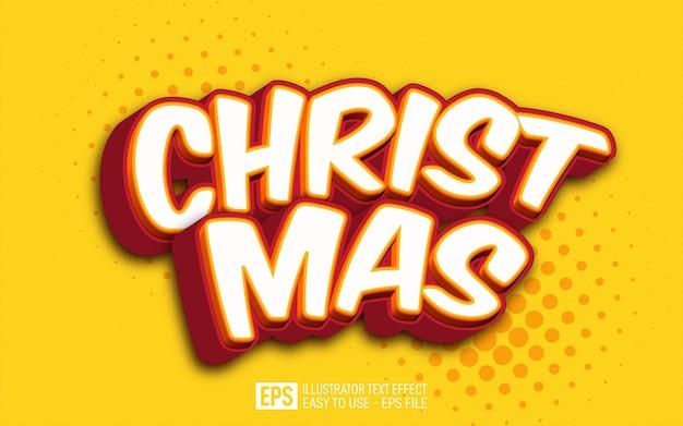 Kersttekst bewerkbaar illustrator teksteffect