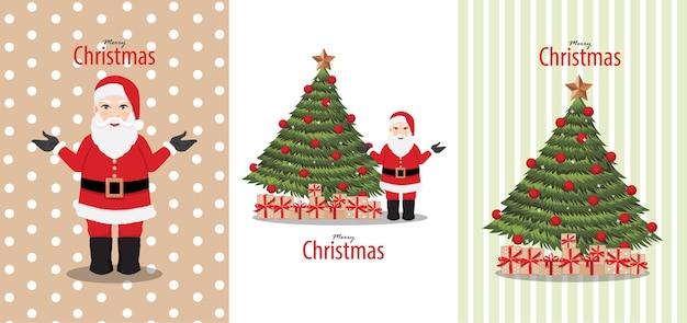 Kerstthema-begroetingsset