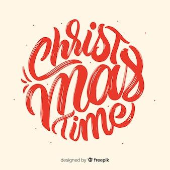 Kersttijd belettering